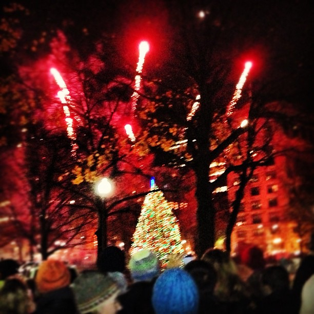 Christmas Tree Lighting Ceremony in Boston