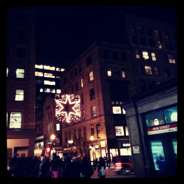 Christmas Decorations in downtown Boston