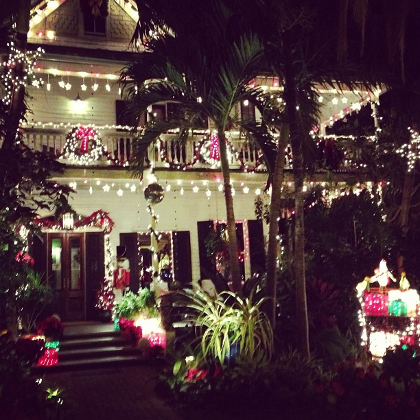 Key West House decorated for Christmas