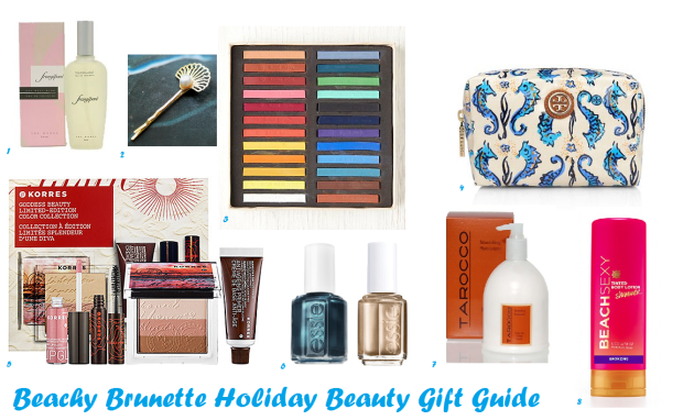 Beachy Brunette Holiday Beauty Gift Guide