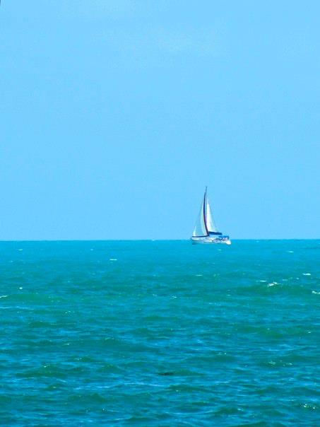 blue water and sailboat