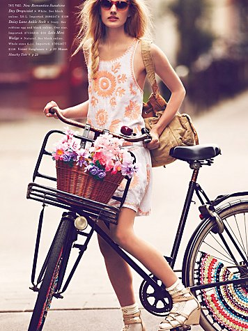 free people girls on bikes jan catalog short dress