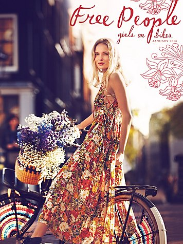free people girls on bikes january 2013 catalog