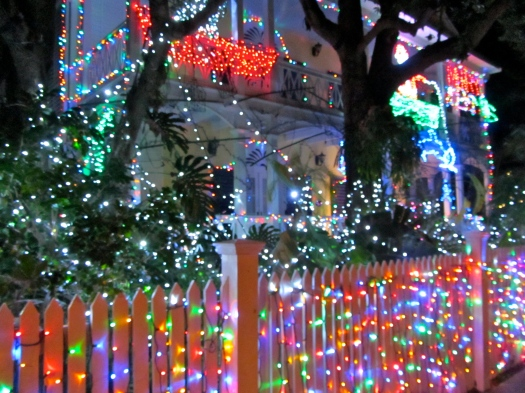 crazy christmas lights in key west