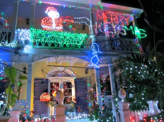 huge christmas lights display in key west