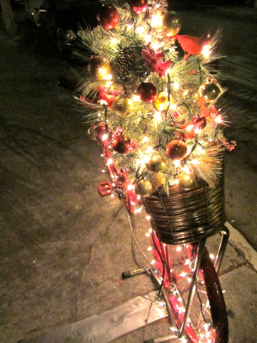 decorated christmas bike