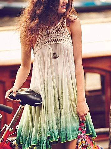 ombre dress from free people girls on bikes january catalog