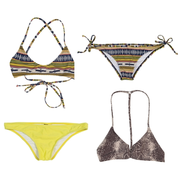mix and match pieces for RVCA Swim 2013
